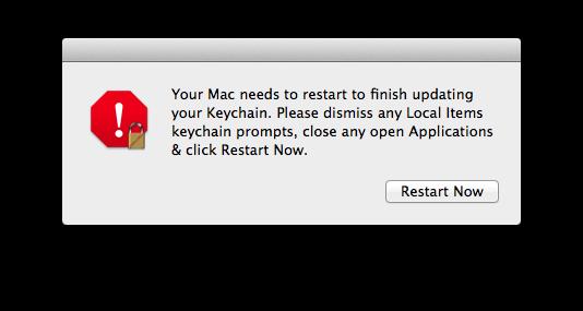 10.9 Keychain Restart