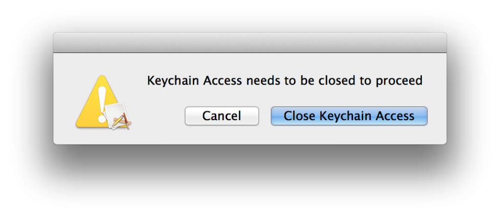 Close Keychain Access