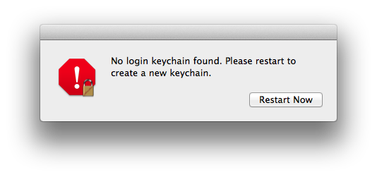 No login keychain found