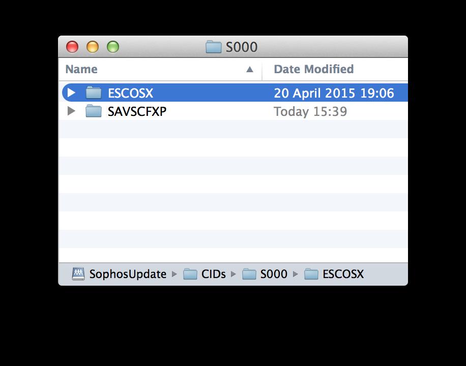 Sophos Update folder