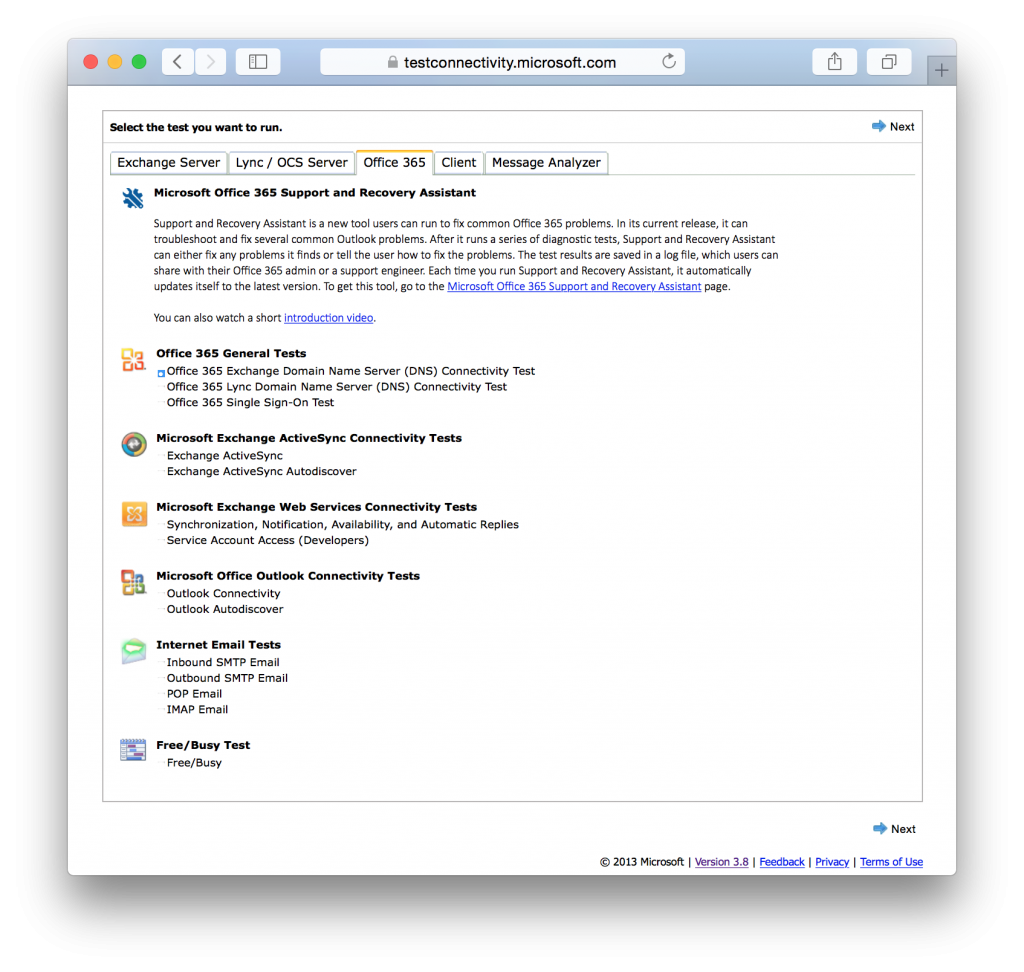 Microsoft Remote Connectivity Analyzer | macmule