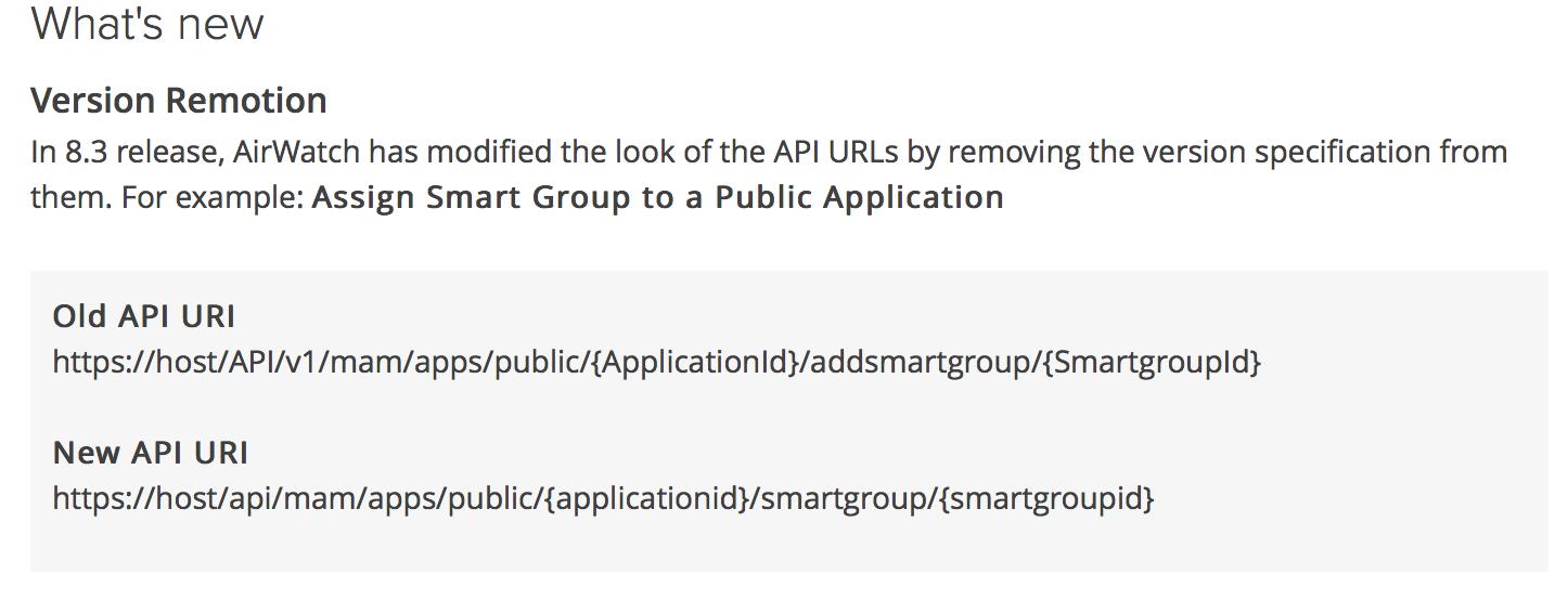 Airwatch REST API URI Changes | macmule